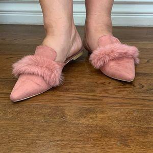 Cape Robbin fur leather slide-ins Fine-6 flats